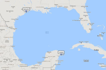 Carnival Valor, Cozumel Plus mini cruise from Galveston, September 27, 2018 route